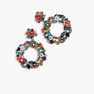 NEW J. Crew floral hoop earring!  Sold out!